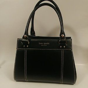 Kate Spade Dark Blue Leather Satchel Small Handbag